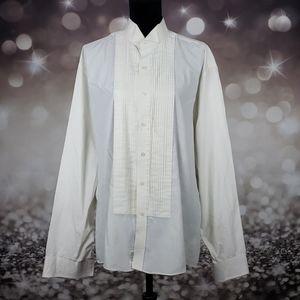 After Six Pleated Button Up Shirt Desmonds XL